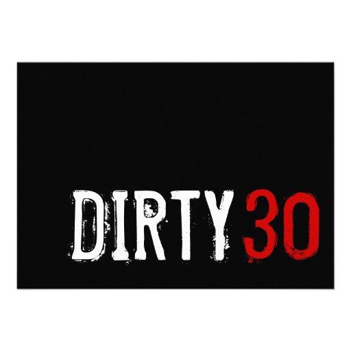 dirty 30 birthday invitation wording