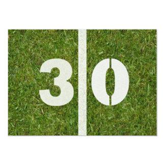 """30th Birthday Football Party Invitation 5"""" X 7"""" Invitation Card"""