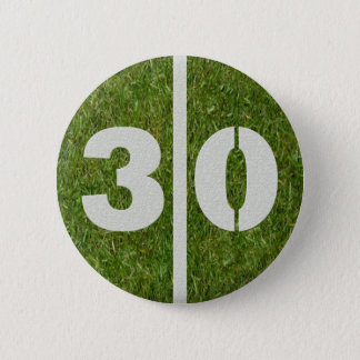 30th Birthday Football Yard Button