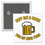 30th Birthday Funny Beer 15 Cm Square Badge