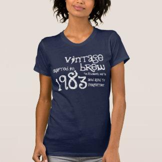 30th Birthday Gift 1983 Vintage Brew Custom Name T-Shirt