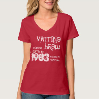 30th Birthday Gift 1983 Vintage Brew Gift for Her T-Shirt