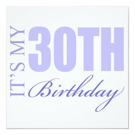 30th Birthday Gift Idea Card