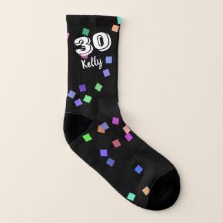 30th Birthday Gift Ideas Socks with Confetti