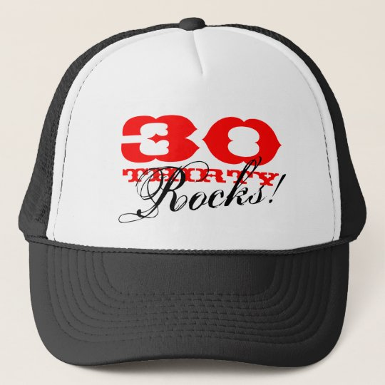 30th Birthday hat | Thirty Rocks!
