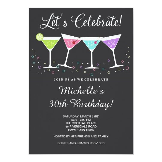 birthday invitation party Adult