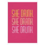 30th Birthday Invitation -Drink Drank Drunk