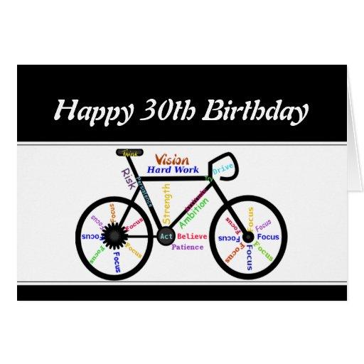 30th Birthday Motivational Bike Bicycle Cycling Card
