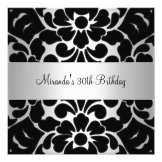 Party Invitations, 2,000 Black Silver 30th Birthday Party Invites ...