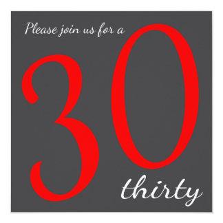 30th Birthday Party    DIY Text 13 Cm X 13 Cm Square Invitation Card