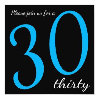 30th Birthday Party  | DIY Text 13 Cm X 13 Cm Square Invitation Card