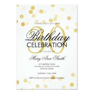 30th Birthday Party Faux Gold Foil Glitter Lights 13 Cm X 18 Cm Invitation Card