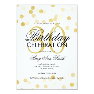 30th Birthday Party Faux Gold Foil Glitter Lights Card
