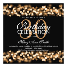 30th Birthday Party Faux Gold Hollywood Glam 5.25x5.25 Square Paper Invitation Card