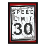 30th Birthday Party Grungy Speed Limit Sign