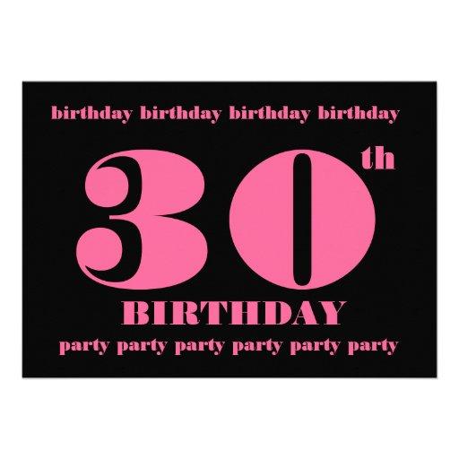 30Th Bday Invitations as luxury invitation template