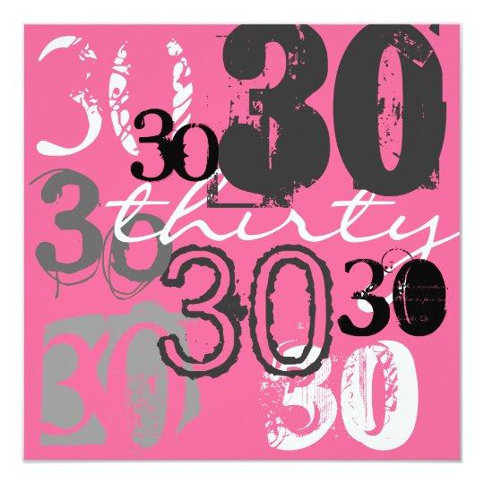 30th Birthday Party Invitations