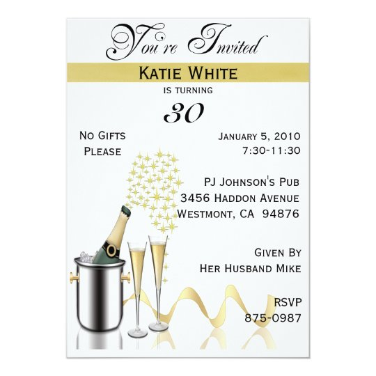 30th Birthday Party Personalised Invitation