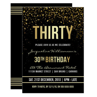 30th Birthday Invitations Announcements
