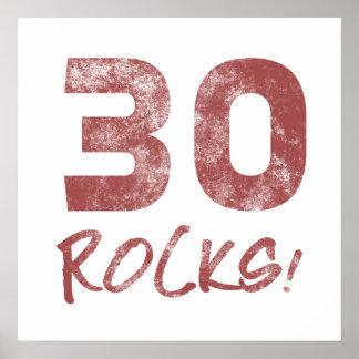 30th Birthday Rocks Print