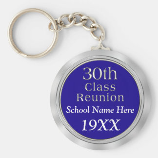 30th Class Reunion Gifts with Your TEXT and COLORS Key Ring