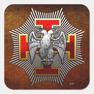 30th Degree: Knight Kadosh Square Sticker