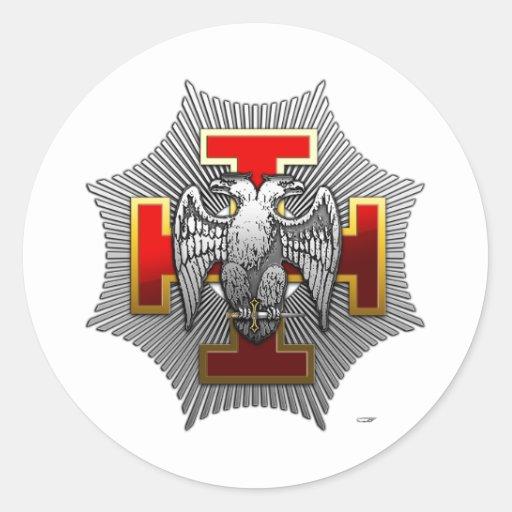 30th Degree: Knight Kadosh Round Sticker