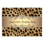 30th Leopard Birthday Party Invitation 5x7