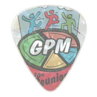 "30th ""Mercedes"" Logo Celluloid Guitar Pick Pearl Celluloid Guitar Pick"