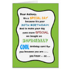 30th or ANY AGE Funny Birthday Greeting Card