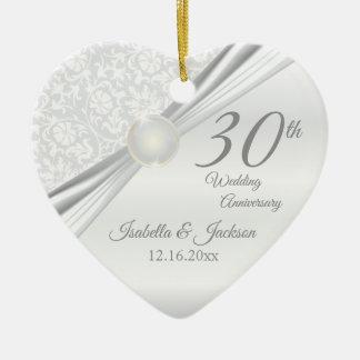 30th Pearl  Anniversary Christmas Ornament