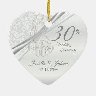 30th Pearl Wedding Anniversary Christmas Ornament
