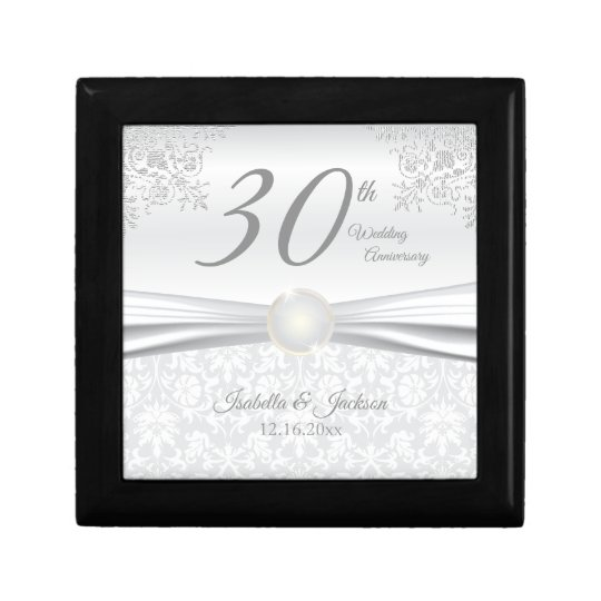 30th Pearl Wedding Anniversary Design Gift Box