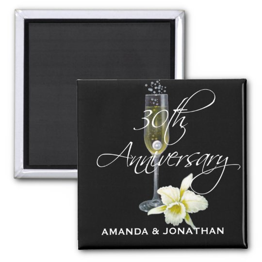 30th Pearl Wedding Anniversary Party Gift Magnet