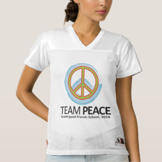 30th Team Peace Logo Women's Football Jersey