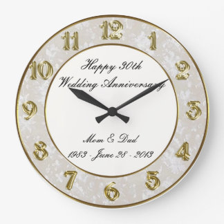 30th Wedding Anniversary Clock