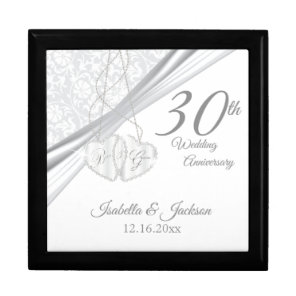 30th Wedding Anniversary Design Gift Box