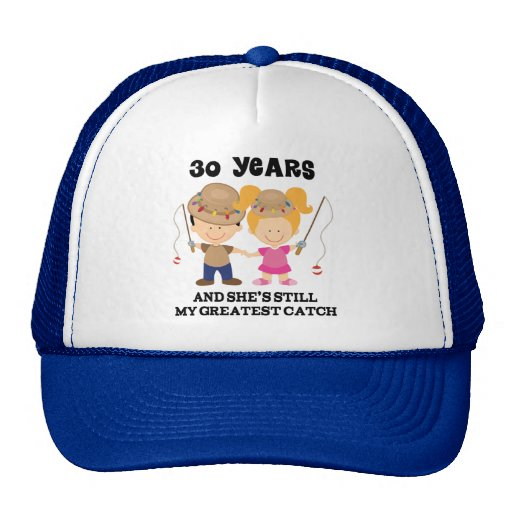 30th Wedding Anniversary Gift For Him Cap