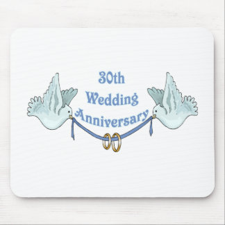 30th wedding anniversary gifts t mouse mat