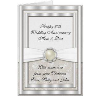 30th Wedding Anniversary Greeting Card