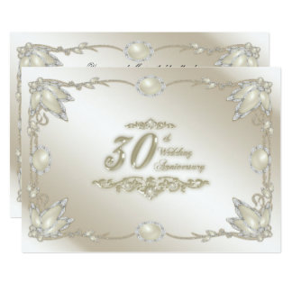 30th Wedding Anniversary Invitation