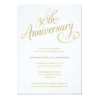 30TH | WEDDING ANNIVERSARY INVITATIONS
