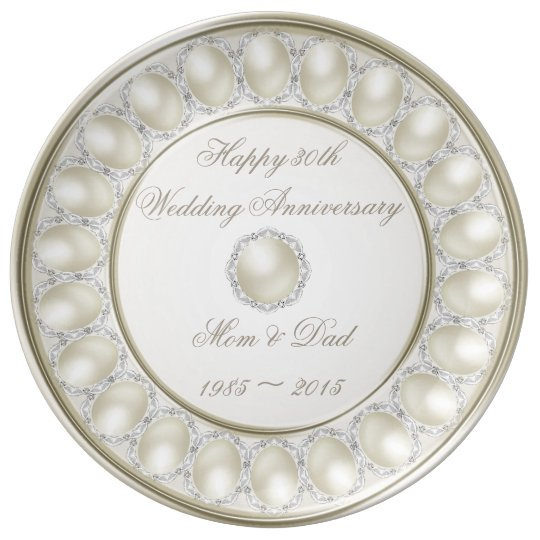 30th Wedding Anniversary Porcelain Plate