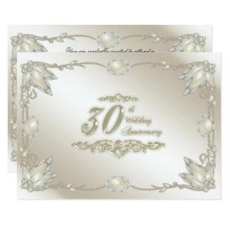 30th Wedding Anniversary RSVP 9 Cm X 13 Cm Invitation Card