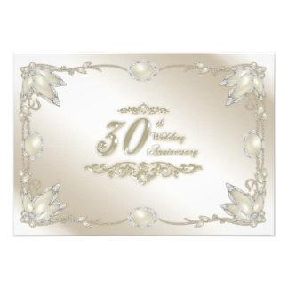 30th Wedding Anniversary RSVP Custom Announcement