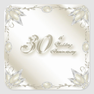 30th Wedding Anniversary Sticker