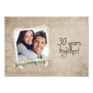 30th Wedding Anniversary Vow Renewal 13 Cm X 18 Cm Invitation Card