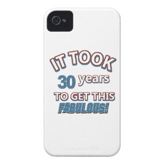 30th year birthday designs iPhone 4 covers