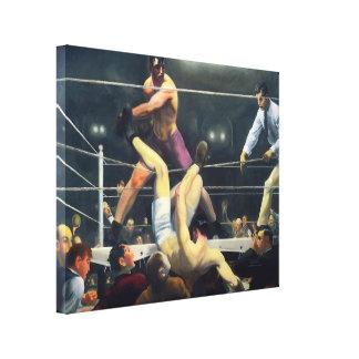 30x24 Vintage Art Sports Boxing 1924 Canvas
