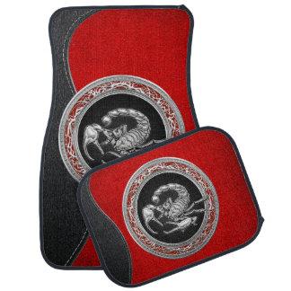 [310] Sacred Silver Scorpion on Black Floor Mat